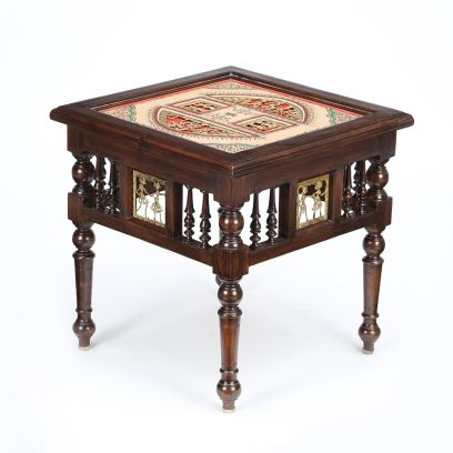 Soho Dark Brown Bedside Table with Straight Legs