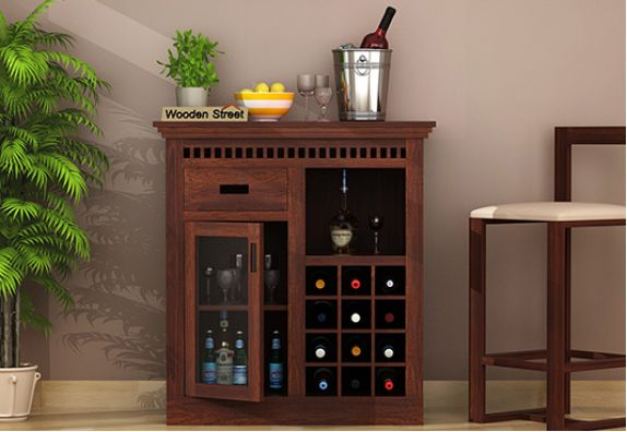 solid wood bar cabinets in Chennai