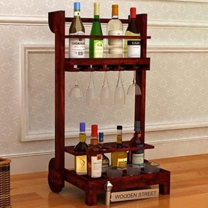 wooden bar trolley designs for home in bangalore