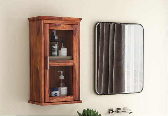 Benitez Bathroom Cabinet (Honey Finish)