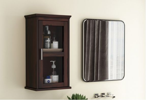 Benitez Bathroom Cabinet (Walnut Finish)