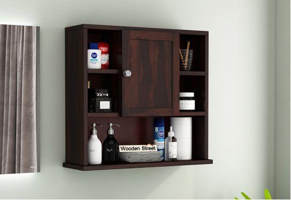 Cuevas Bathroom Cabinet (Walnut Finish)