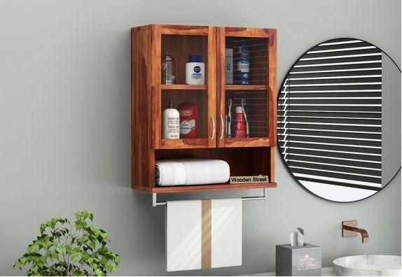 Bathroom Mirror Cabinet Buy Wooden Bathroom Cabinets Online In India Upto 55 Off