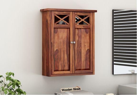 Esparza Bathroom Cabinet (Honey Finish)