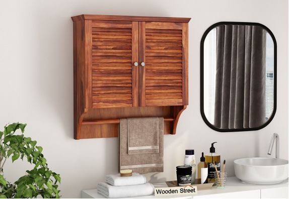 Bathroom Mirror Cabinet Buy Wooden Bathroom Cabinets Online In India Upto 55 Off