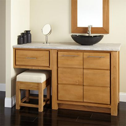 Wooden Bathroom Vanities Online (Honey Finish)