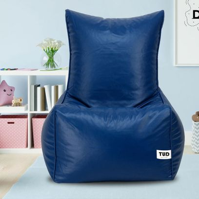 Chair Style Bean Bag Cover (XXXL, Blue)
