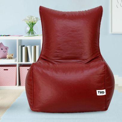 Chair Style Bean Bag Cover (XXXL, Maroon)