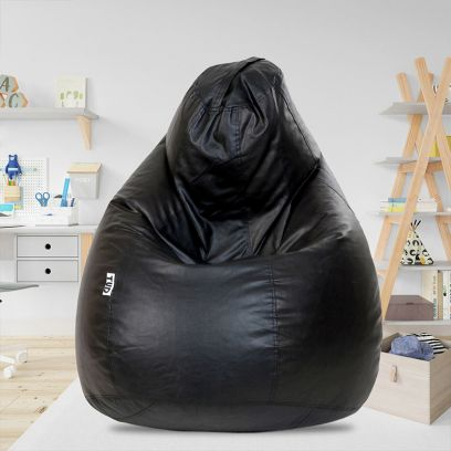 Classic Bean Bag Cover (XXL, Black and Brown)