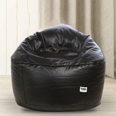 Muddha Sofa Bean Bag Cover (XXXL, Black)