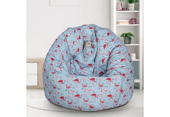 Pink and Blue Organic Cotton Bean Bag Cover with Beans