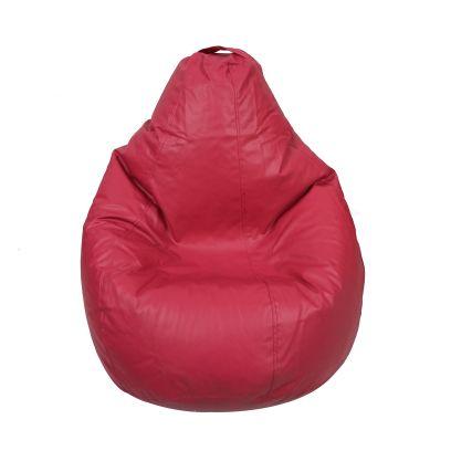 Plain Leatherette Bean Bag Cover (Jumbo, Pink)