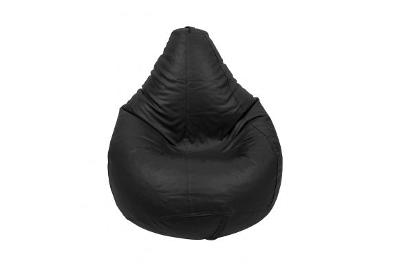 Black Leatherette Bean Bag Cover for Kids
