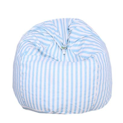 Striped Pattern Cotton Bean Bag Cover With Beans