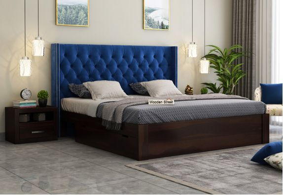upholstered bed online India, buy double beds online in India