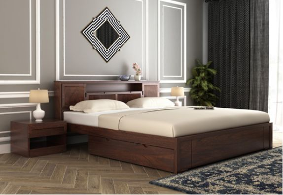 Storage Wooden King Size Beds Online India
