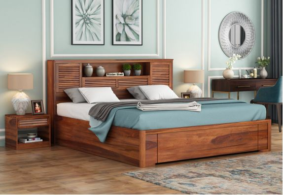hydraulic double bed price queen size