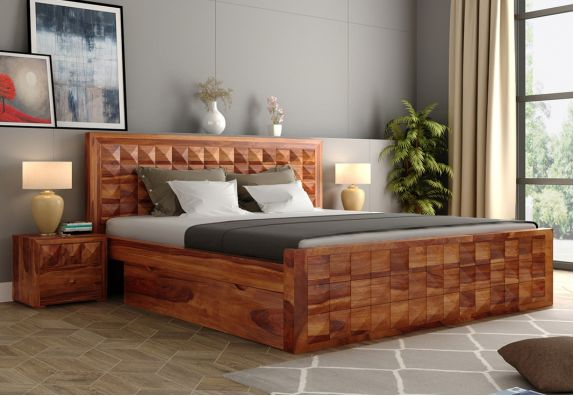Double Bed in queen size online latest design