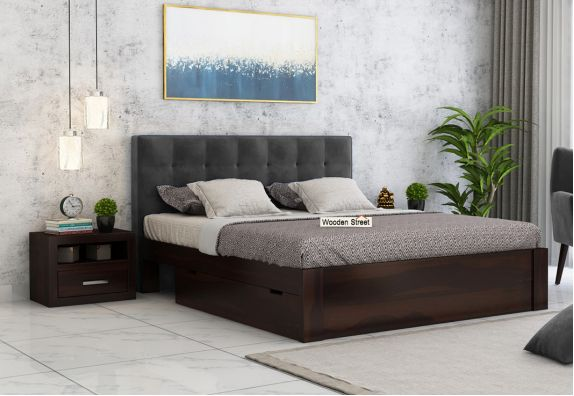 buy upholstered beds with fabric in Pune