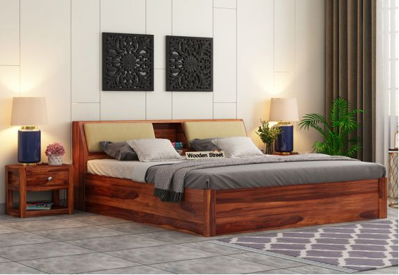 Queen Size Bed With Hydraulic Storage India