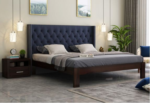 upholstered king size bed india