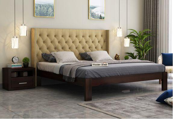 Modern upholstered bed for bedroom in king size