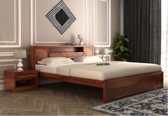 Designer King Size Bed online India, king bed design
