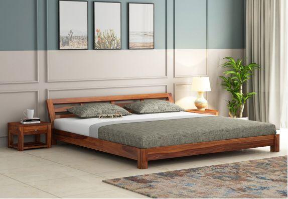 Low Floor King Size bed Design online at Low Price