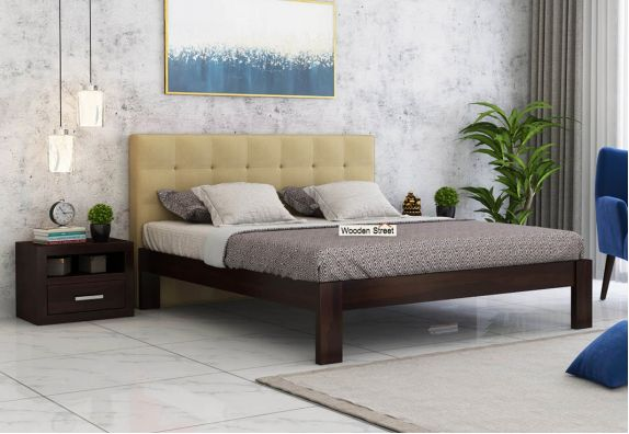 Wagner Upholstered Bed Without Storage (Queen Size, Irish Cream)