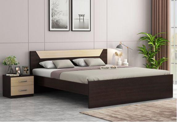 Carmen Bed Without Storage (King Size, Flowery Wenge Finish)