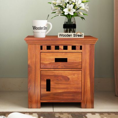 Adolph Bedside Table with drawers for bedroom