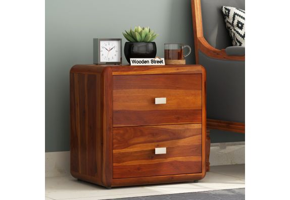 Aron Bedside Table (Honey Finish)
