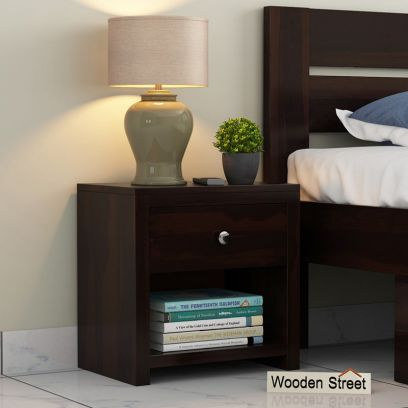 wooden bedside table with drawer online India