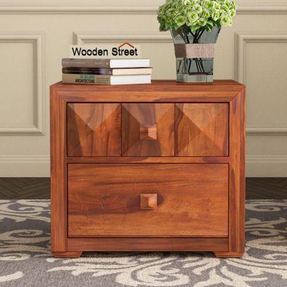 Morse Bedside Table (Honey Finish)