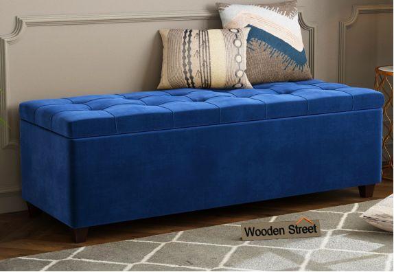 Camy Bench With Storage (Indigo Blue)