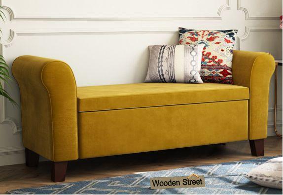 Jade Bench With Storage (Chestnut Brown)