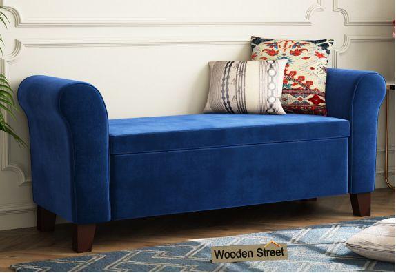 Jade Bench With Storage (Indigo Blue)