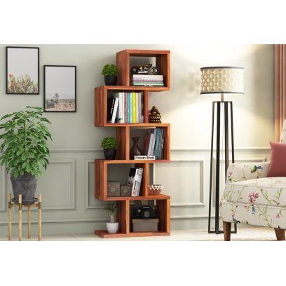 Wooden bookshelf design online in Bangalore India