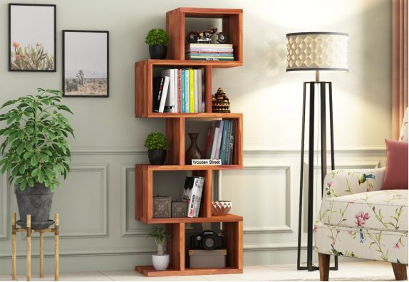 Wooden bookshelf design online in Bangalore India