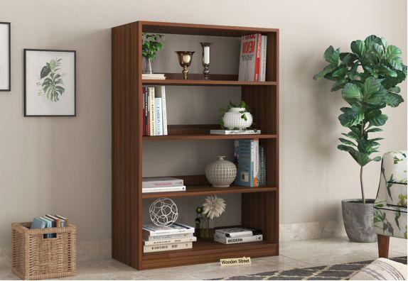 Buy modular furniture online, Astra Bookshelf with Storage (Exotic Teak Finish)