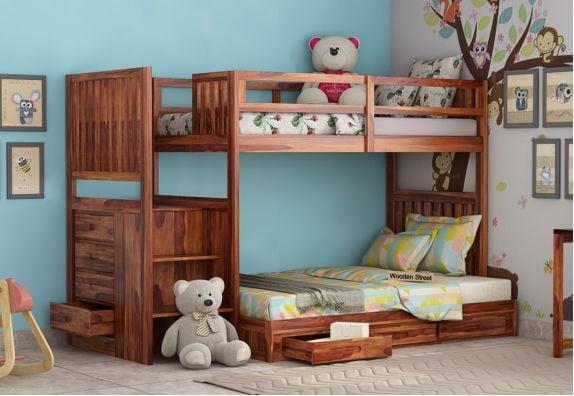 Shop wooden bunk beds design for kids online | kids beds
