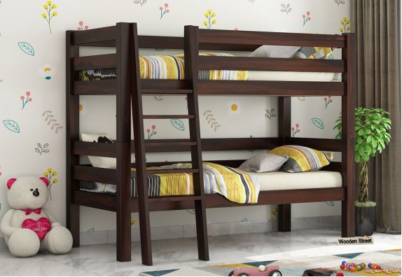 buy wooden bunk beds for kids online Bangalore, Space Saving Beds