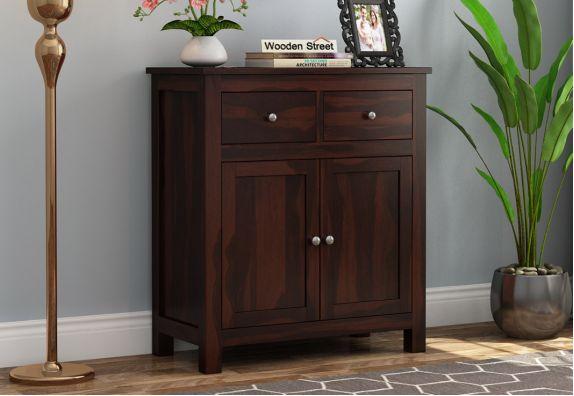 Clovis Cabinet With Drawers (Walnut Finish)