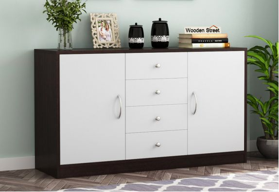Gavin Sideboard with Frosty White Drawer (Flowery Wenge Finish)
