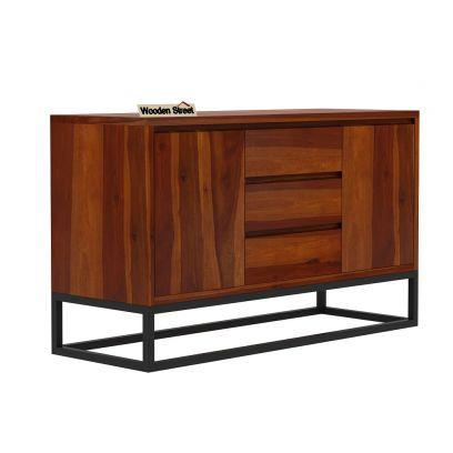 Ray Loft Three Drawer Sideboard (Honey Finish)