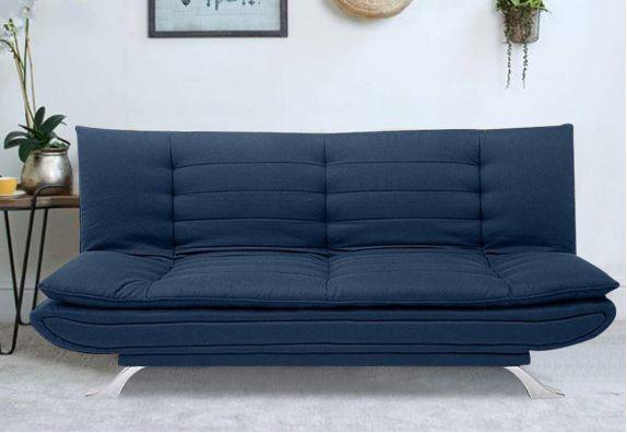 Dark Blue Aloy 3 Seater Fabric Sofa Cum Bed Set