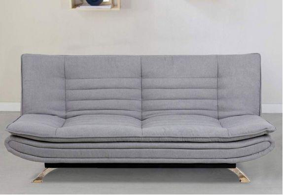 Light Grey Aloy 3 Seater Fabric Sofa Cum Bed Set