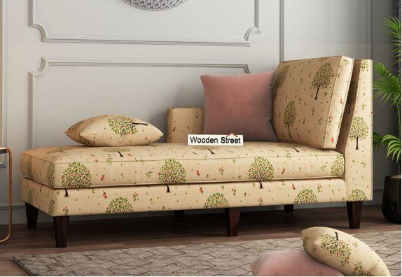 Bracus Chaise Lounge (Cotton, Beige Pomme)