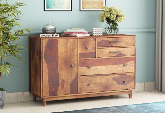 sheesham wood chest of drawers designs online