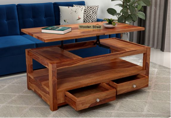 Jack Coffee Table with Lift Top (Honey Finish)
